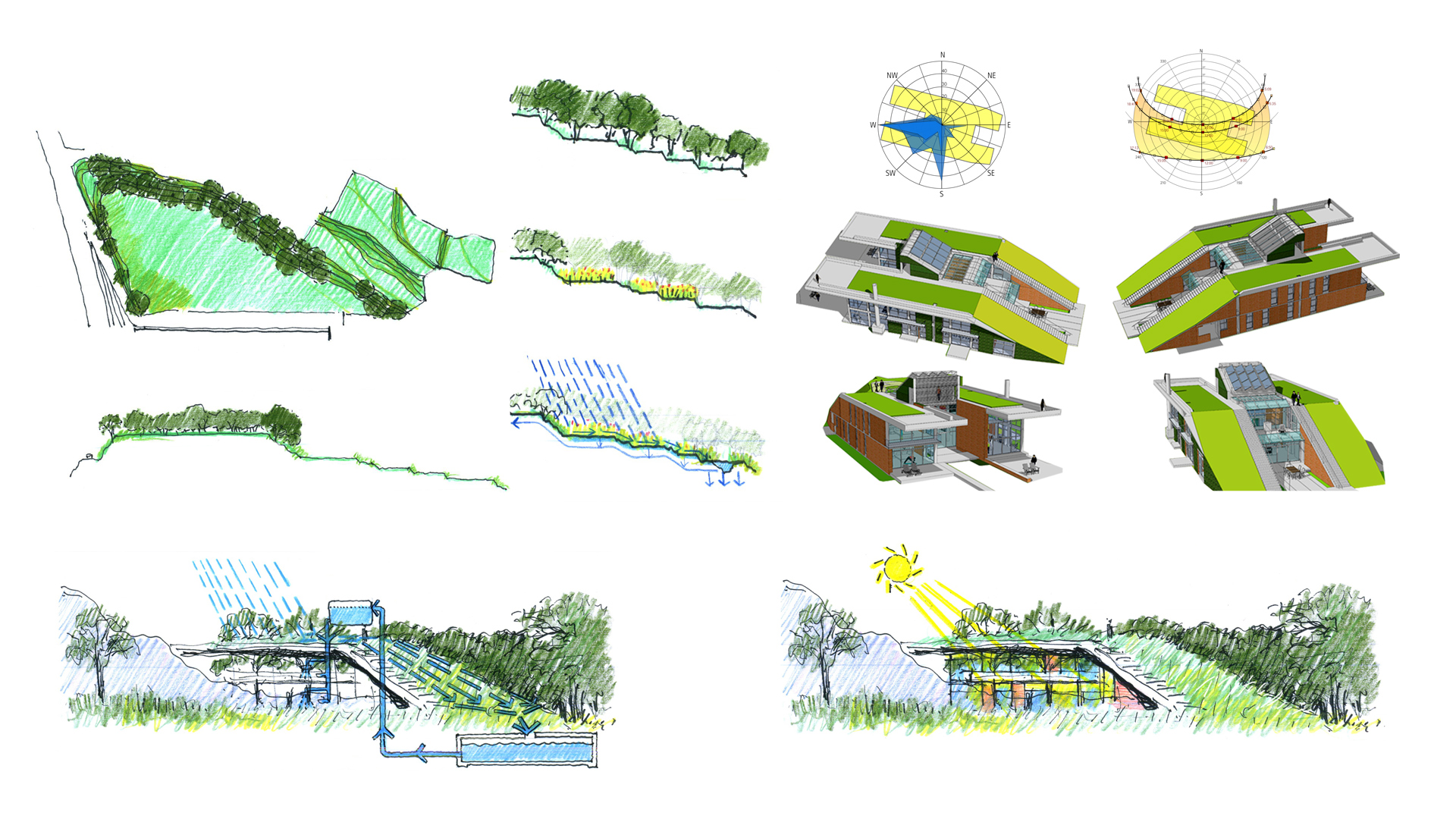 Green roof house design MAP Architecture Architect Kiran Mathema