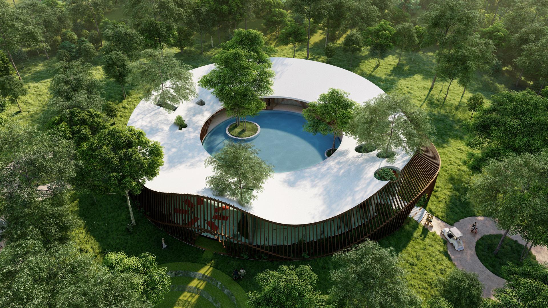 MAP design spa architecture architect kiran-mathema-aerial