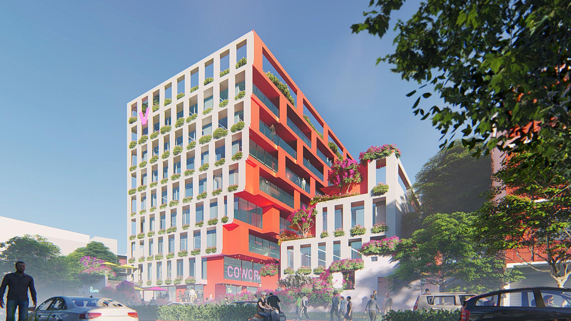 MAP_Design_Architecture_Retail_Mixed_Use_Architect_Kiran_Mathema_Shopping_arcade_Louver_facade_Street