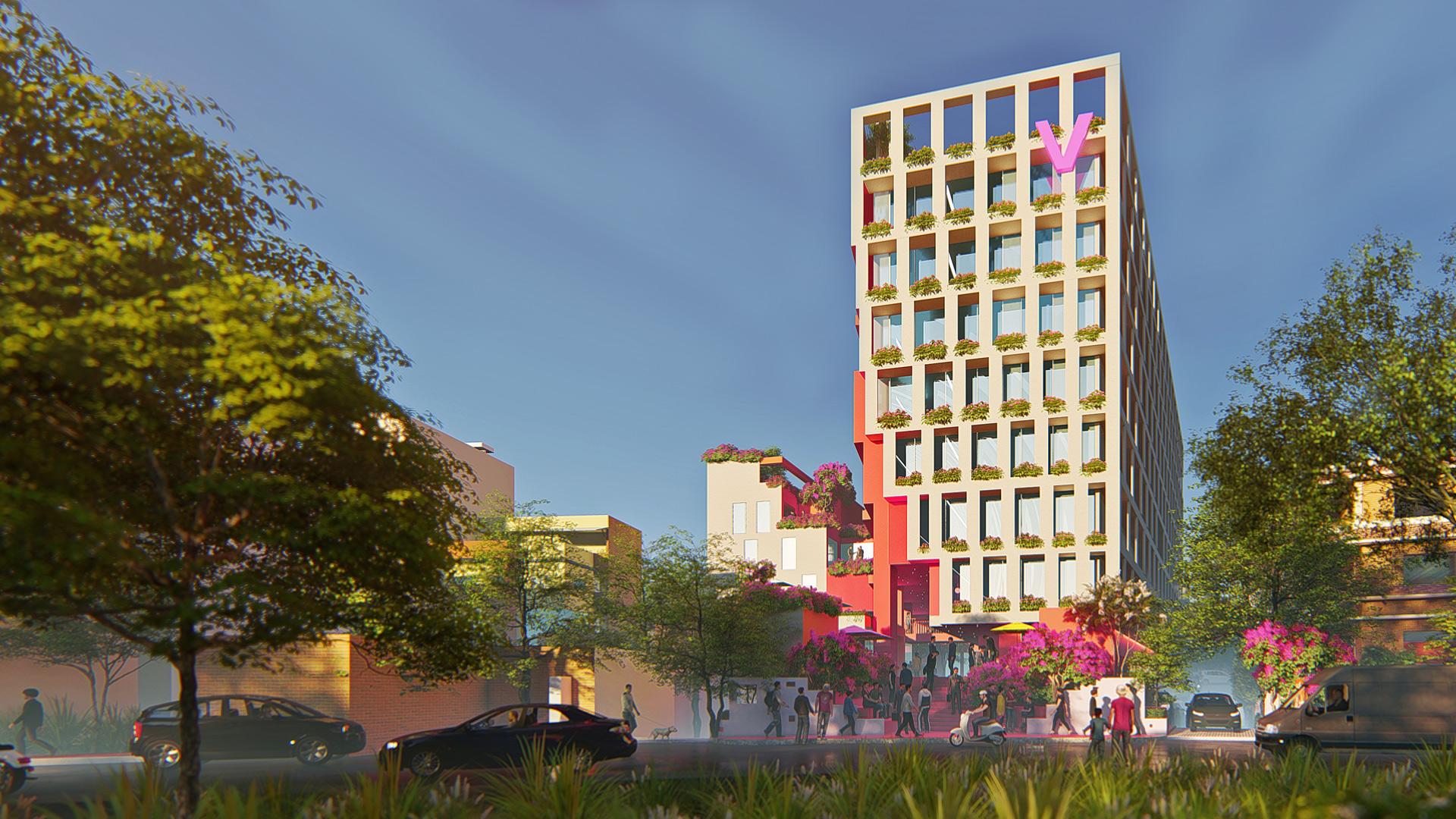 MAP_Design_Architecture_Retail_Mixed_Use_Architect_Kiran_Mathema_Shopping_arcade_Louver_facade_Street_Tower